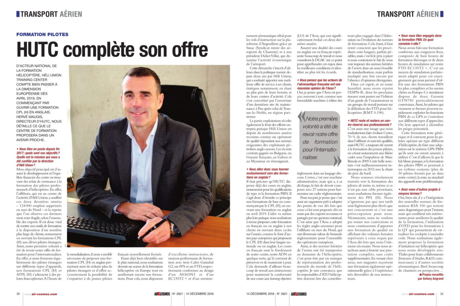 article HUTC Air et Cosmos